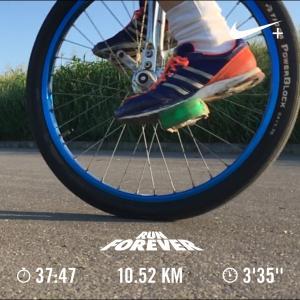 20190810一輪車ラン10km