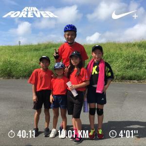 20190812一輪車10km走