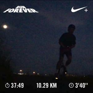 2019 0813月夜の10km一輪車ラン