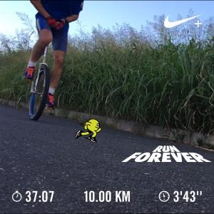 20190814一輪車イヴニングラン10km
