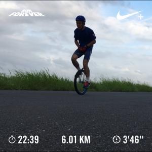 20190815雨上がりを待っての一輪車イヴニングラン
