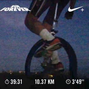 20190816風速15mの中の一輪車ラン