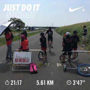 20190818真夏日の一輪車クラブ練習