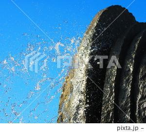 舎人公園の噴水の風景