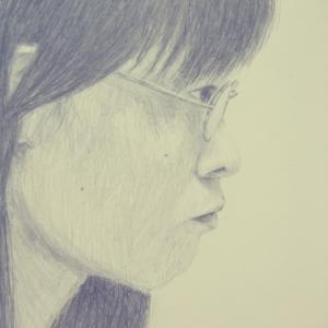 「井村浩司追悼展」小林ブルー美由起さんがお店番!