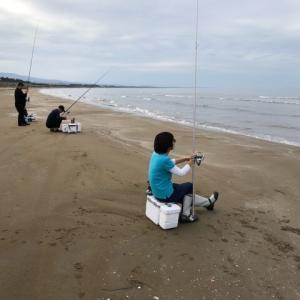 2019年9月21日、千里浜キス釣り