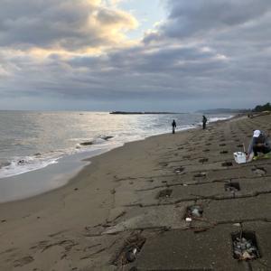 2019年11月10日、岩瀬浜キス釣り