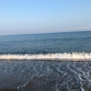 2019年8月3日、草野海岸キス釣り