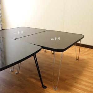 コンパクトに収納できる、ニトリの折りたたみテーブル活用方法。