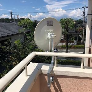 今日も屋根の上は暑いっす!!アンテナ工事