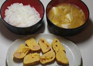 みそ汁と卵焼き