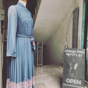 韓国旅行〜綺麗な感じの古着屋さん