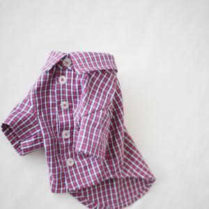 犬服メンズ半袖シャツ(ソーイングレッスン)