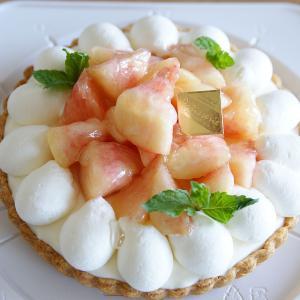 千葉市のお菓子教室~桃のチーズタルト