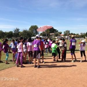 小学校のマラソン大会、今年も炎天下
