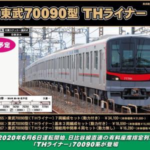 GM 東武70090型(THライナー)7両編成セット(動力付き)7月発売予定 品番:30965 #グリーンマックス #GREENMAX