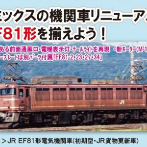 TOMIX JR EF81形電気機関車(初期型・JR貨物更新車) 品番:7131 #トミックス