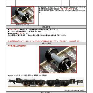 GREENMAX [商品仕様変更のお知らせ] 品番8642 集電非対応車輪(黒・プラ車軸) #グリーンマックス
