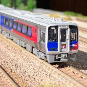 JR四国N2000系 特急「うずしお4号」が入線しました。KATO 10-1628 特別企画品
