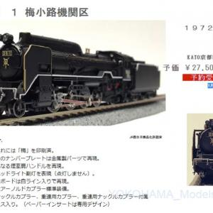 【KATO京都駅店】1月30日発売 D51 1 梅小路機関区 特製品 #kato