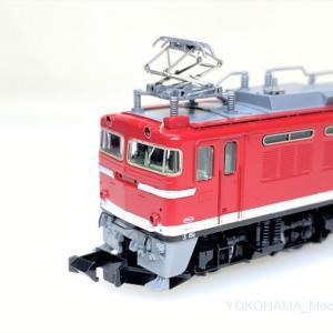 EF81 95号機 レインボー塗装・Hゴムグレー 入線です。 TOMIX 7153