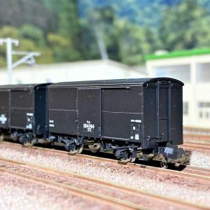 ワム90000形(扉リブなし)国鉄貨車 が入線しました。TOMIX 2728