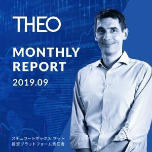 THEO[テオ]実績公開中。2019年9月運用レポートが公開されていました