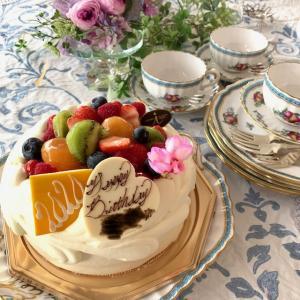 午後のティータイム☆バースデーケーキ