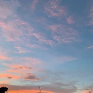 早朝の空と朝のひととき