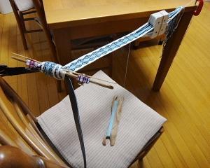 昼休みにカード織り。必殺!垂直軸ひねり!!