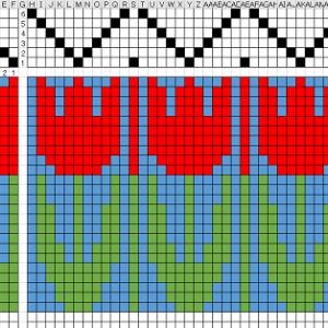 ブンデンローゼンゴンのマクロ、6枚綜絖に対応。V2.0ということで。