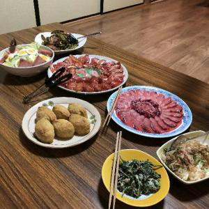 青ヶ島の夜 島料理とあおちゅう(ハナタレ)