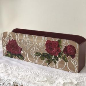 カランブール社ティーチャーコース生徒様作品*薔薇を使ったトランスファーのふたつの表現