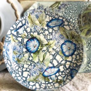 朝顔モチーフの清々しく美しいガラスの作品*カランブール社マスタークラス