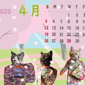 ぎんネコ☆はうす オリジナルカレンダー4月