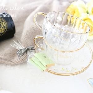 温かいミルクティーやチャイに♡冬も素敵なガラスのティーセット