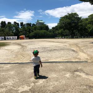 名古屋城横のソフトクリーム