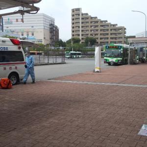 神戸市営地下鉄名谷駅前/神戸市須磨区/2020年6月