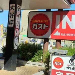 ガスト加古川駅南店/から好し合い盛り定食,セットドリンクバー/1022円