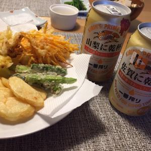 ご当地ビール&天ぷらで乾杯☆