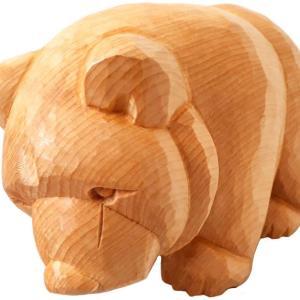 木彫り熊 這い熊3を完成しました。木彫工房もくもっこり