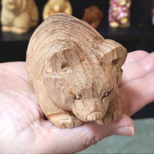 【Sold out】木彫り熊 手乗り熊 くるみをUPしました。