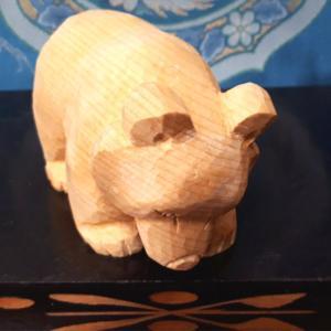 木彫り熊 米ヒバ 這熊 をUPしました。