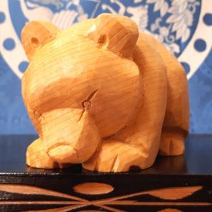 米ヒバ 這い熊 五作目をUPしました。