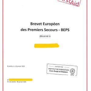BEPSという資格証明が届く@ベルギー