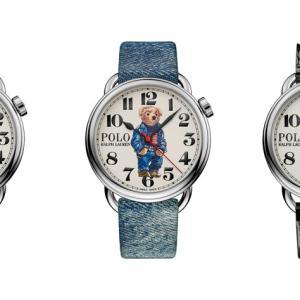 腕元にチャーミングなエッセンスをプラスして。ラルフのポロベアが腕時計になりました。