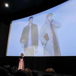 矢代と百目鬼がスクリーンから客席とやり取り&質問に生回答! 劇場アニメ『囀る鳥は羽ばたかない』舞台挨拶レポ
