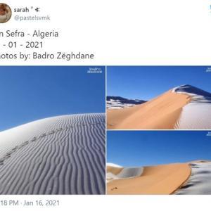 サハラ砂漠で降雪 「誰かが世紀末とか言い出すだろうな」「自然が人間に激怒してるってことよ」