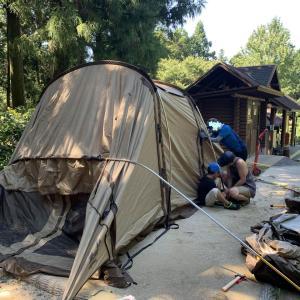 【子連れキャンプ】福岡☆大野城いこいの森キャンプ場 水辺公園で水遊び~いとこと初キャンプ♪