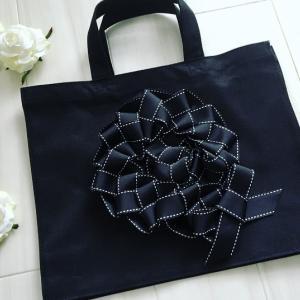 【12/11・残1】編むリボンで飾るトートバッグ作り